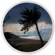 Cedar Silhouettes Round Beach Towel