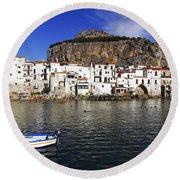 Cefalu - Sicily Round Beach Towel