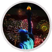 Celebrate America Round Beach Towel by Bill Cannon