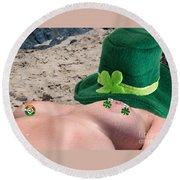 Celebrate St Pattys Day Round Beach Towel