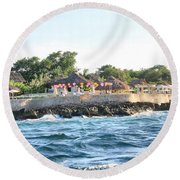 Celebrate The Waves Round Beach Towel