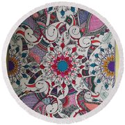 Celebration Of Design Round Beach Towel