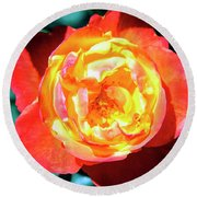 Celebration Rose Palm Springs Round Beach Towel