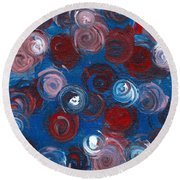 Celestial Bouquet Round Beach Towel