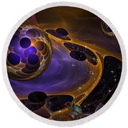 Cell Forms 2 Round Beach Towel