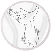 Cell-phone-cover-cat1 Round Beach Towel
