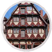 Celle Old Houses Round Beach Towel