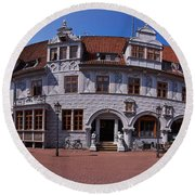 Celle Rathaus Round Beach Towel