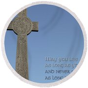 Celtic Blessing 1 Round Beach Towel