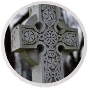 Celtic Cross 10194 Round Beach Towel