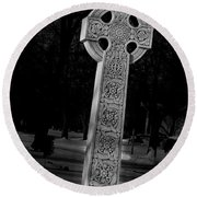 Celtic Cross 3d22026 Round Beach Towel