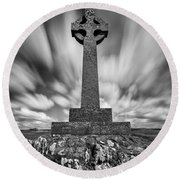 Celtic Cross Round Beach Towel by Dave Bowman