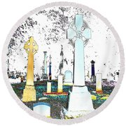 Celtic Crosses Round Beach Towel