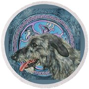 Celtic Hound Round Beach Towel