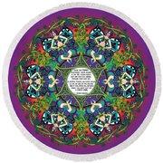 Celtic Spring Fairy Mandala Round Beach Towel