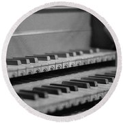 Cembalo Keyboards Round Beach Towel