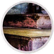 Cement Steps Number One Round Beach Towel
