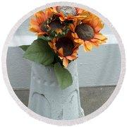 Cemetary Flowers 1 Round Beach Towel