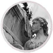 Cemetery Gentlewoman Round Beach Towel