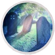 Cemetery Light Round Beach Towel
