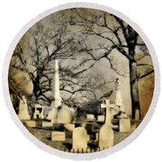 Cemetery Shades Round Beach Towel