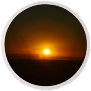 Center Of The Sun Round Beach Towel