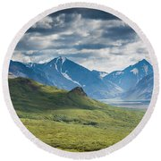 Center Of The Valley Round Beach Towel