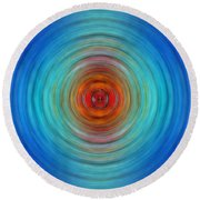 Center Point - Abstract Art By Sharon Cummings Round Beach Towel