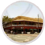 Central Cairns Historical Buildings Round Beach Towel