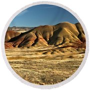 Central Oregon Painted Hills Round Beach Towel