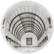 Central Post Office Saigon Round Beach Towel