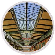 Central Railroad Of New Jersey Crrnj Round Beach Towel