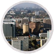 Central San Jose California Round Beach Towel