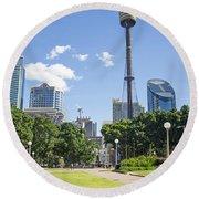 Central Sydney Park In Australia Round Beach Towel