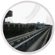 Central Train Station - Des Moines Round Beach Towel