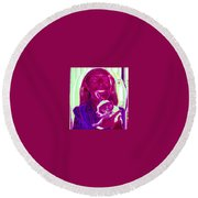 Chachi And Dot Round Beach Towel