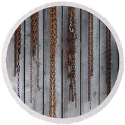 Chains On The Wall Round Beach Towel