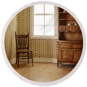 Chair And Cupboard Round Beach Towel