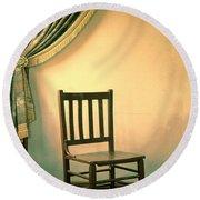 Chair And Curtain Round Beach Towel