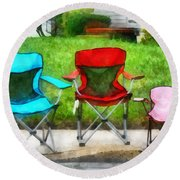 Chair Family Round Beach Towel
