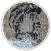Chairman Mao Portrait Round Beach Towel