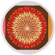 Chakra Mandala With Crystal Stone Healing Energy Plates By Side  Navinjoshi Rights Managed Images Fo Round Beach Towel
