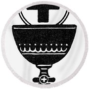 Chalice And Cross Round Beach Towel