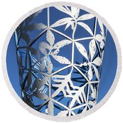 Chalice Sculpture Round Beach Towel