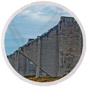 Chambers Bay Architectural Ruins Round Beach Towel