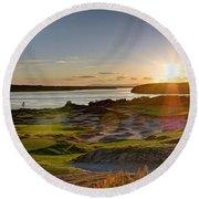 Chambers Bay Sun Flare - 2015 U.s. Open  Round Beach Towel