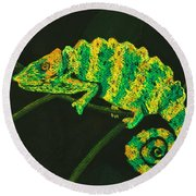 Chameleon Round Beach Towel