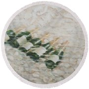 Champagne Cooling Round Beach Towel