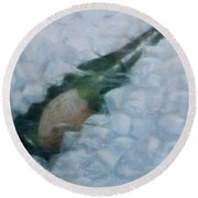 Champagne On Ice Round Beach Towel