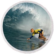 Champion At Pipeline Masters  Round Beach Towel